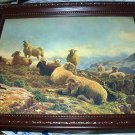 c1900 AUGUSTE BONHEM-GRAZING SHEEP IN MOUNTAINS-Print ONLY-NO Frame