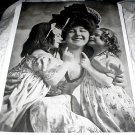 Antique Print-MAMMA & HER LITTLE PET'S-Adorable Little Girls with Their Mother