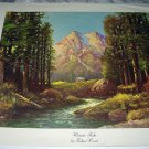 Artist: ROBERT WOOD Larger Lithograph Print-MAJESTIC PEAKS