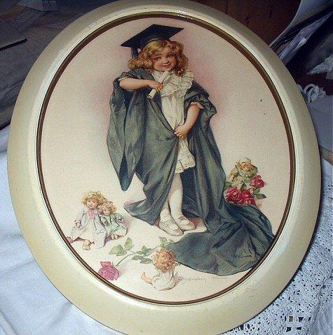 1903 MAUD HUMPHREY-Sweet Girl Graduating,Roses,Dollies Watching