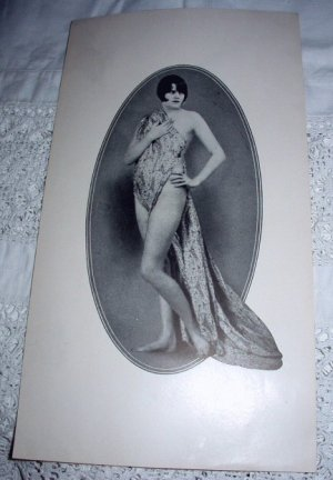 Vintage Nude Nymph Print-Lovely Wrapped Package