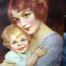 J.KNOWLES HARE Lithograph-DEAR TO HER HEART-Mother Hugging Child