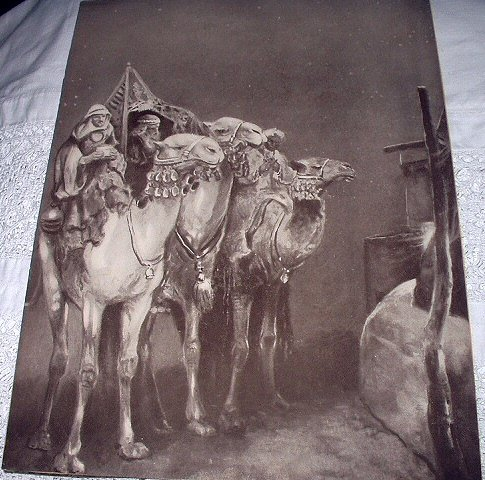 THE WISE MEN Vintage Lithograph Print-Sepia Toned