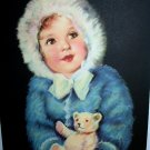 PRECIOUS *BUNNY* IRENE PATTEN Vintage Lithograph Print -Girl with Teddy Bear