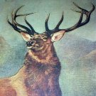 LANDSEER-MONARCH OF THE GLEN-Vintage Lithograph Print-Large Majestic Buck