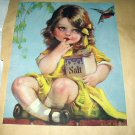 Sweet Little Girl Dressed In Yellow-Vintage Artwork Illustration