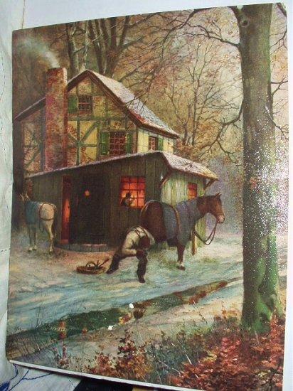 VILLIAGE SMITH-BLACKSMITH-Vintage Lithograph Print