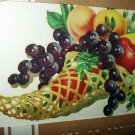 VINTAGE UNUSED MEYERCORD DECAL#840-C BOUNTIFUL FRUIT IN WICKER HORN
