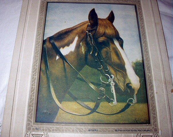 1915 Brown Horse-BOBBY-Signed Calendar Artwork