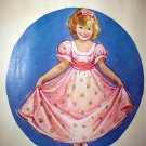 VERNON THOMAS-Girl In Pink Curtsying Magazine Artwork Print