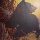 BLACK BEAR-Cabin Art Lithograph Print-P.B.PARSONS