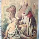 Late 1800s Antique Chromolithograph Print-THE GOOD SAMARITAN-STUNNING COLORS!