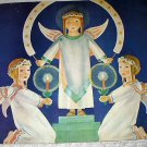 Christmas Angels Rejoicing Vintage Magazine Artwork Illustration