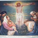 The Saviour Of Mankind Vintage Lithograph-Jesus on the Cross-Artist: Untersberger
