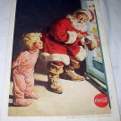 1959 Coca Cola Cover Artwork-Santa Raiding the Refrigerator for a Drink