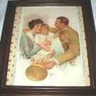 **REDUCED**1919 Home Coming-WWI Soldier,Wife,Daughter-C.D.WILLIAMS