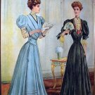 **REDUCED**1908 Two Victorian Twin Sisters In Long Gowns Antique Framed Chromolithograph Print