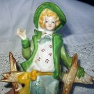 **REDUCED**Occupied Japan Porcelain Figurine-Colonial Man in green jacket
