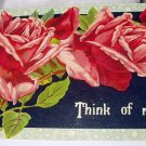 Germany 1912 Used Postcard-Pink Roses-Think of Me