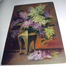 Unused GERMANY Postcard-Lovely Vase of Purple and White Lilacs-Birthday Greetings