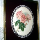 **Reduced** c1900 Paul Delongpre Pink Roses-Frmd Reverse painted