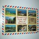 Greetings from the Sea of Galilee Unused Vintage Postcard-Printed in Israel