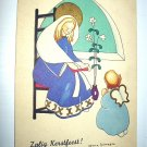 Zfalig Kerstfeest!-Used Vintage Postcard-Netherlands-Signed: Helena Scheggia-Merry Christmas