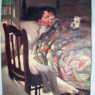 Laughing Boy,Surprised Puppy Dog-J.F.Kernan-Vintage Print-Some Flaws