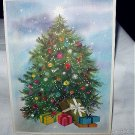 Larger Festive Vntg Christmas Greeting Card-Decorated Tree w/all the trimmings!And Presents Too!