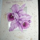 Vintage Mother's Day Greeting Card-Beautiful Purple Orchids