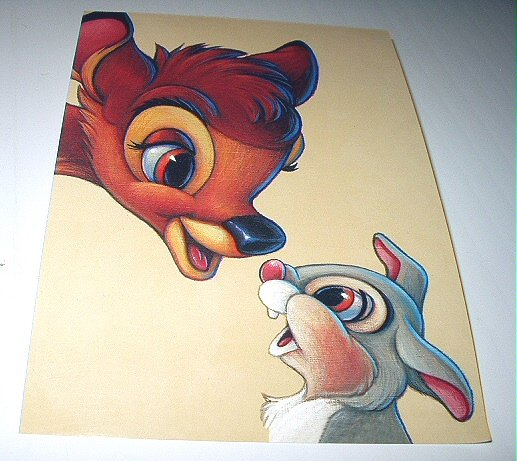Commemoritive Unused Prepaid Postcard-BAMBI AND THUMPER Stamp