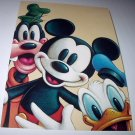 Commemorative Unused Prepaid Postcard-MICKEY MOUSE,DONALD DUCK, AND GOOFY Stamp