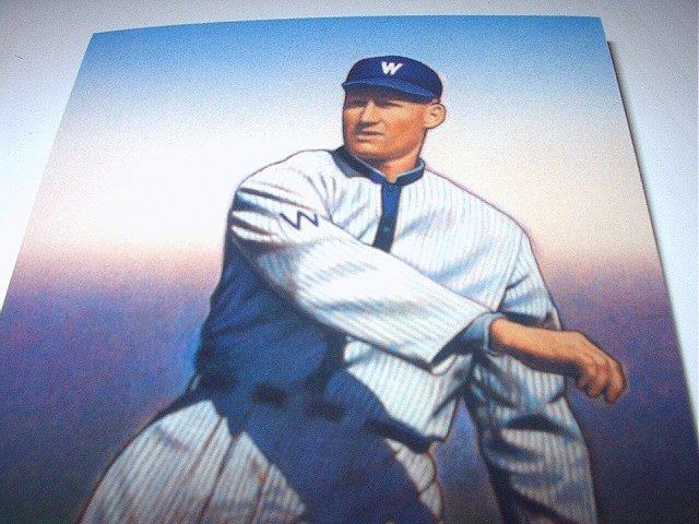 WALTER JOHNSON Stamp-Washington Senators Pitcher-Commemorative Unused Prepaid Postcard