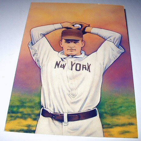 CHRISTY MATHEWSON Stamp-New York Giants Pitcher-Commemorative Unused Prepaid Postcard