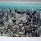 Aeiral view of Manhattan Skyline-New York-Vintage Postcard-Alfred Mainzer