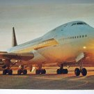 SIA 747B Jumbo Jet Airplane-Vintage Used 1975 Hong Kong Postcard-Singapore Airlines