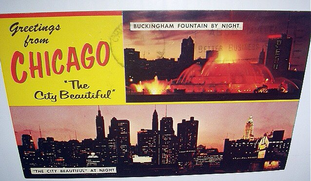 1969 Used Postcard-Greetings from CHICAGO-Buckingham Fountain/The City Beautiful