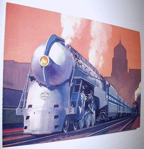 Commemorative Unused Prepaid Postal Card-The 20th Century Limited J-3a Steam Locomotive Stamp