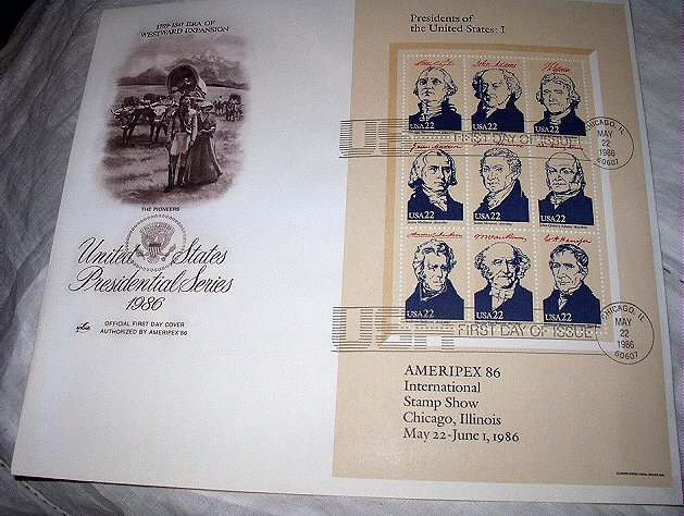 FDC US PRESIDENTIAL SERIES-I,PIONEERS Westward Expansion