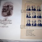 FDC US PRESIDENTIAL SERIES-I,PIONEERS Westward Expansion