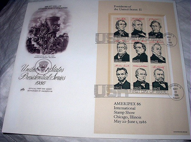 FDC US PRESIDENTIAL SERIES-II,Division and Unification