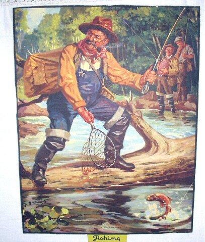 Fishermans Luck-Hy Hintermeister-Original Vintage Lithograph Print