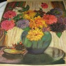 Grace Churchill Sargent Artwork Illustration-Large Vase of Dahlia Flowers