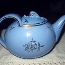 Vintage 1940's HALL China Cadet Blue 6 Cup Teapot with Cadet Hook Lid