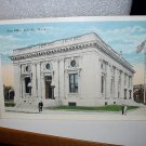 Used 1928 Postcard-Post Office,Belleville,Illinois