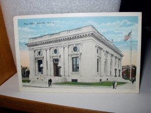 Used 1928 Postcard-Post Office,Belleville,Illinois