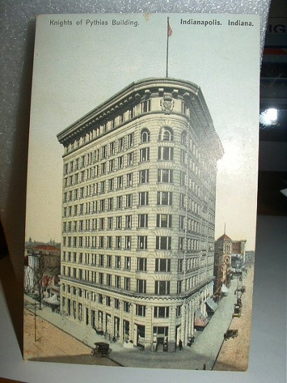 Used 1903 Postcard-Knights of Pythias Building,Indianapolis,Indiana
