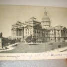 Used 1907 postcard-State Capitol-Indianapolis,Indiana-Mailed to Hanover, Indiana