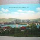 Used 1934 Postcard-Madison Milton Bridge,Madison, Indiana-Mailed to Muncie, Ind.