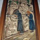 1965 Handpainted Artist Signed Painting-The Wailing Wall,Israel-Religious Wood Framed